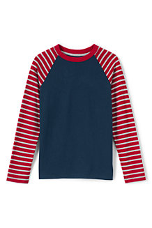 Boys' Stripe Sleeve Raglan Tee