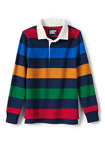 Boys' Striped Rugby Shirt