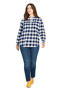 Women's Plus Size Flannel Tunic Top, Unknown