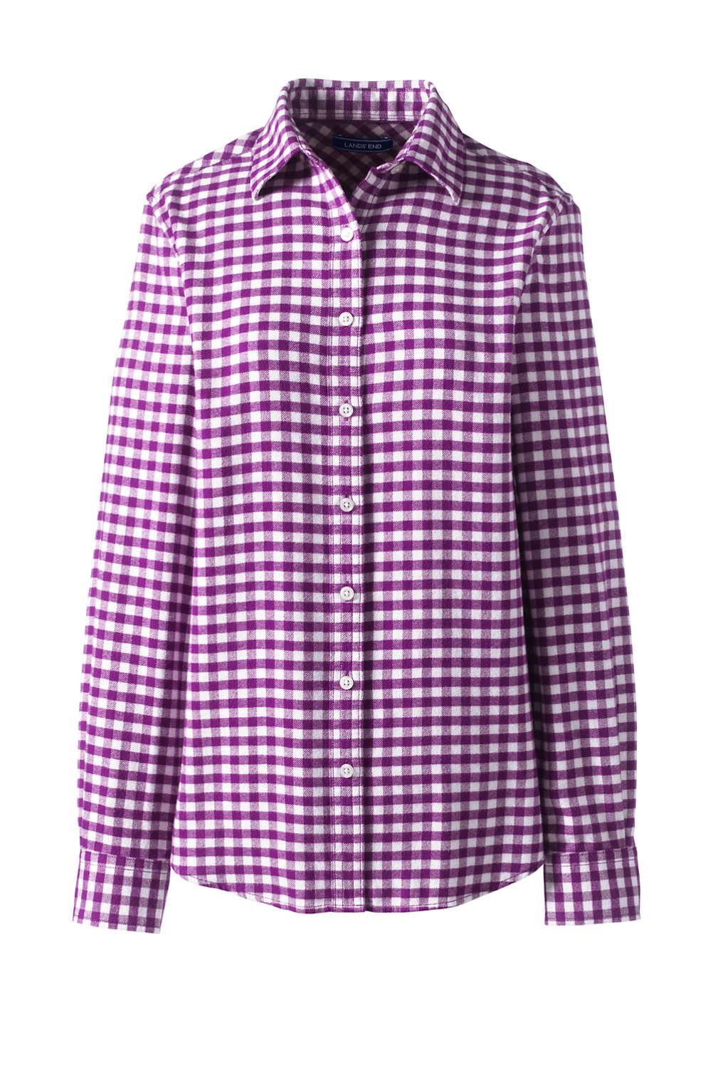 49f87d905acece Women s Flannel Shirt from Lands  End