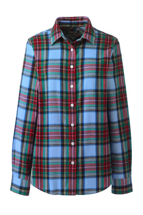 Women's Plus Size Flannel Shirt