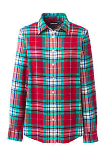 Women's Tall Flannel Shirt, Front