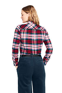Women's Tall Flannel Shirt, Back