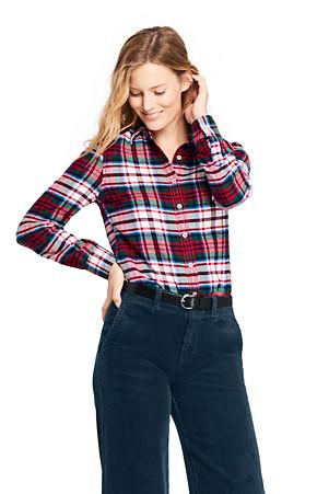 38553d97 Women's Brushed Flannel Shirt | Lands' End