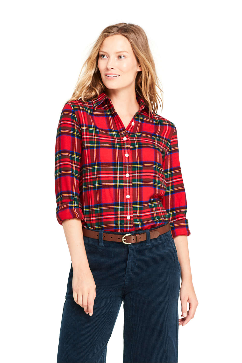 fc10f0adc79 Women s Flannel Shirt from Lands  End