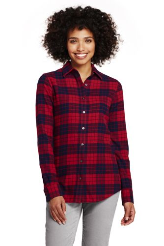 Women S Flannel Shirt From Lands End