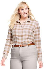 women's plus size shirts & blouses | lands' end