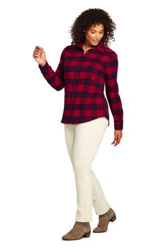 Women's Plus Size Flannel Shirt