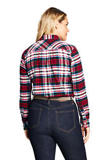 Women's Plus Size Flannel Shirt, Back