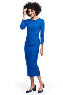 Ponté-Kleid mit geraffter Taille für Damen