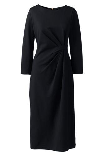 Ponté-Kleid mit geraffter Taille für Damen in Normalgröße