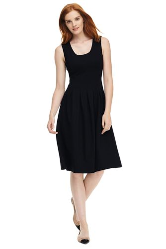 Women's Ponte Jersey Pleated Dress