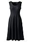 Ärmelloses Ponté-Kleid mit Plisseefalten für Damen