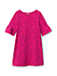 Little Girls' Bell Sleeve Pattern Ponte Dress