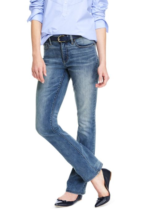 Women's Tall Mid Rise Boot Cut Jeans