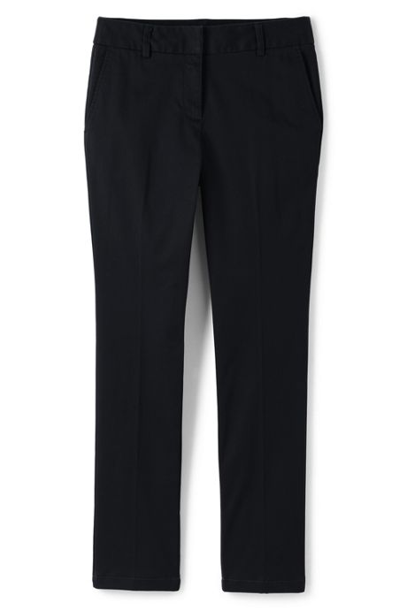 Women's Plus Size Petite Mid Rise Chino Straight Leg Pants