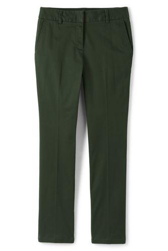 Lands' End Women's Straight Leg Chinos - 14, Green