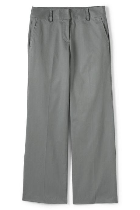 Women's Petite Pre-hemmed Mid Rise Wide Leg Chino Pants