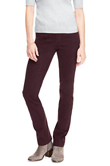 Samtige Straight Fit Jeans für Damen