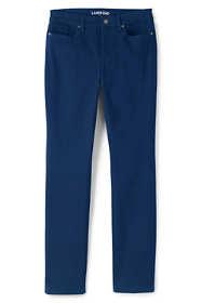 Women's Tall Mid Rise 5 Pocket Sateen Straight Leg Pants
