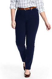 Mid Rise Sateen Straight Leg Pants