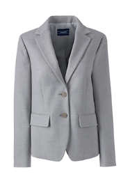 Women's Petite Twill Two Button Blazer