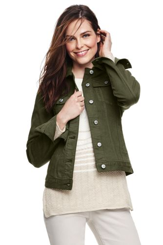 La Veste en Denim Stretch Coloré, Femme Stature Standard