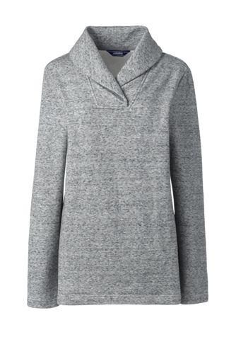 Women's Shawl Collar Fleece Tunic