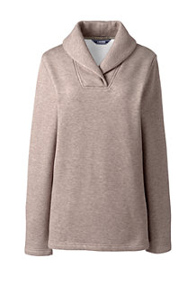 Women's Shawl Collar Fleece Tunic