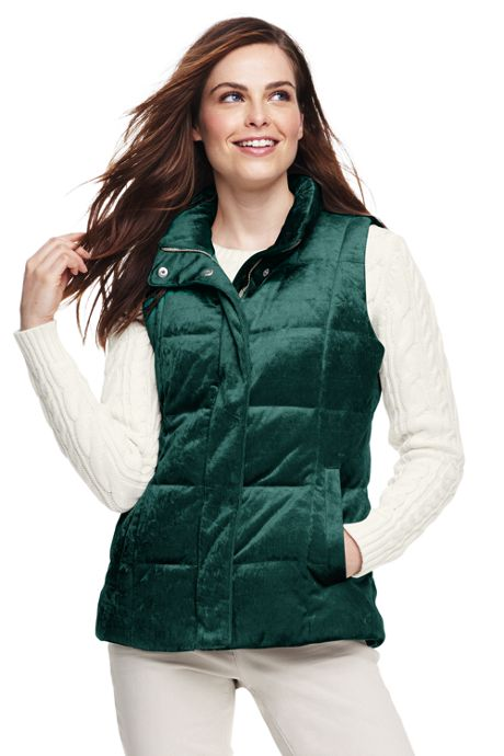 Women's Velvet Puffer Vest