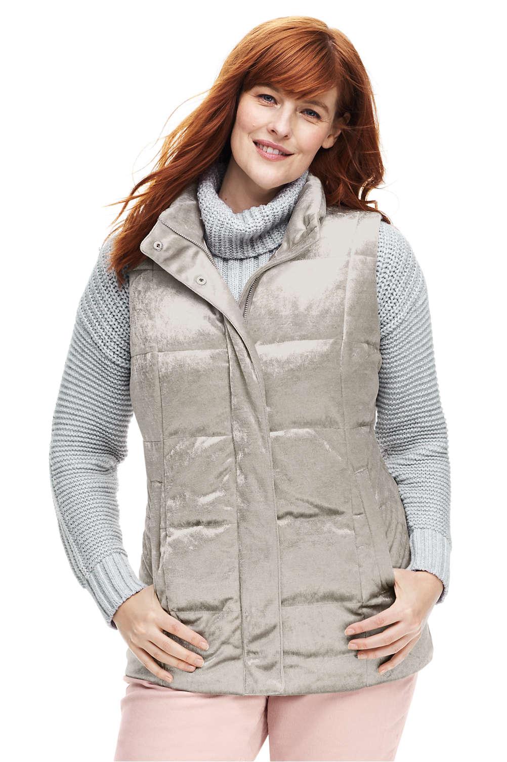 4af5d288d26 Women s Plus Size Velvet Puffer Vest. Item  4887386Q7. View Fullscreen