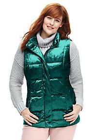 ea2c59d5b60 Women s Plus Size Velvet Puffer Vest