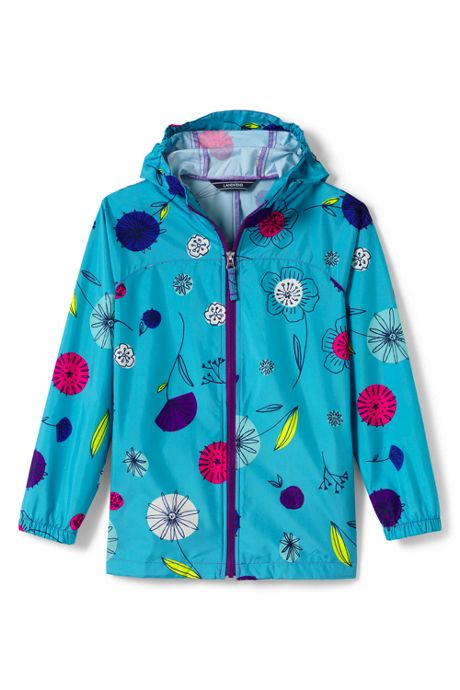 Girls Packable Navigator Pattern Jacket