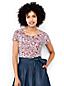 Le T-Shirt Art Jacquard à Manches Courtes, Femme Stature Standard