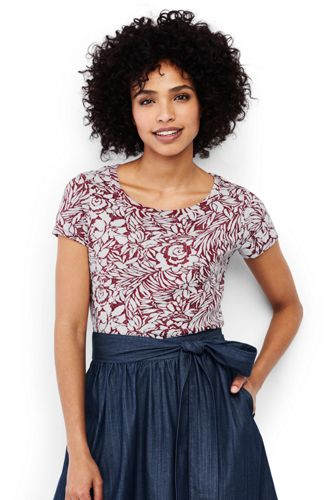 Women's Jacquard Floral Soft Tee
