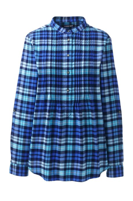 Women's Flannel Tunic Top