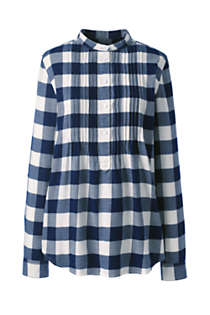Women's Flannel Tunic Top, Front