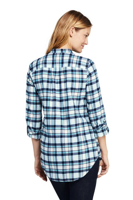 Women's Tall Flannel Tunic Top