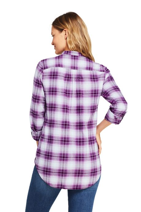 Women's Flannel Pleated Tunic