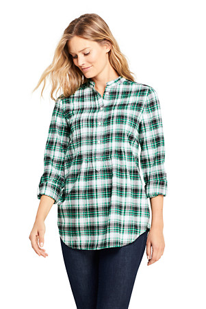 21a08b619a9 Women's Pintucked Brushed Cotton Tunic | Lands' End
