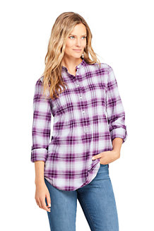 Women's Pintucked Brushed Cotton Tunic
