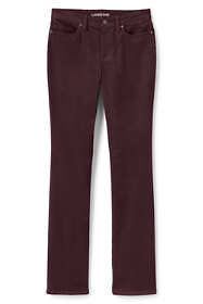 Women's Petite Mid Rise Corduroy Demi Boot Pants