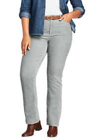 Women's Plus Size Mid Rise Corduroy Demi Boot Pants