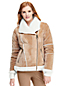 Women's Faux Shearling Moto Jacket