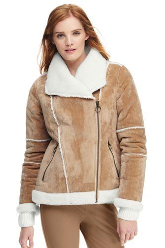 Women's Faux Shearling Moto Jacket