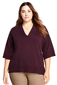 Women's Plus Size Cashmere Sweaters | Lands' End