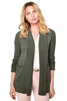 Women's Eco-friendly Mix Stitch Shawl Cardigan