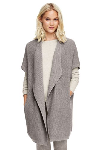 Women's Cotton Waterfall Cardigan from Lands' End