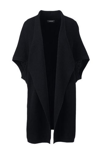 Waffelstrick-Cardigan im Baumwollmix für Damen in Normalgröße