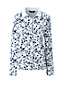 Women's Print Long Sleeve Pima Polo